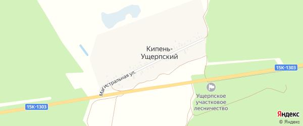 Магистральная улица на карте Кипени-Ущерпского поселка с номерами домов