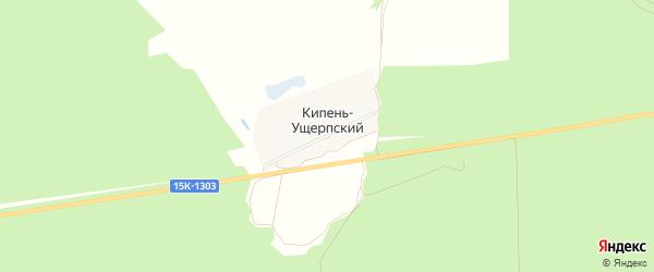 Карта Кипени-Ущерпского поселка в Брянской области с улицами и номерами домов