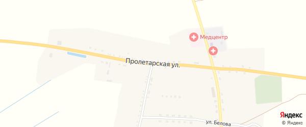 Пролетарская улица на карте села Чуровичи с номерами домов