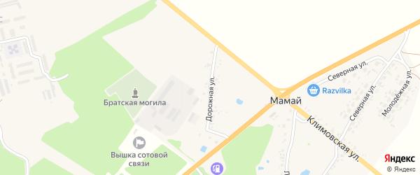 Дорожная улица на карте поселка Мамая с номерами домов