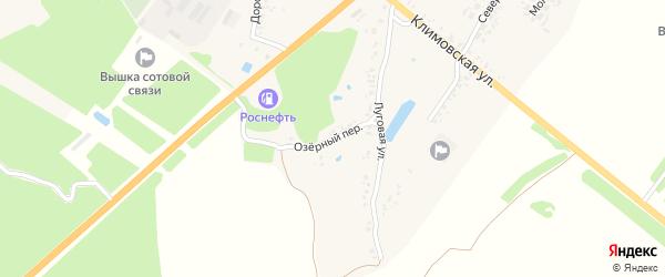 Озерный переулок на карте поселка Мамая с номерами домов
