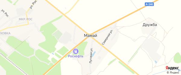 Карта поселка Мамая в Брянской области с улицами и номерами домов