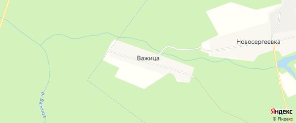 Карта поселка Важицы в Брянской области с улицами и номерами домов
