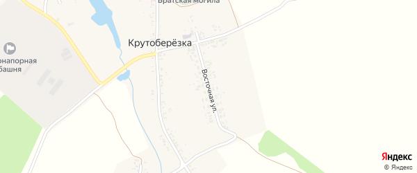 Восточная улица на карте деревни Крутоберезки с номерами домов
