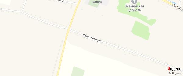 Советская улица на карте села Чуровичи с номерами домов