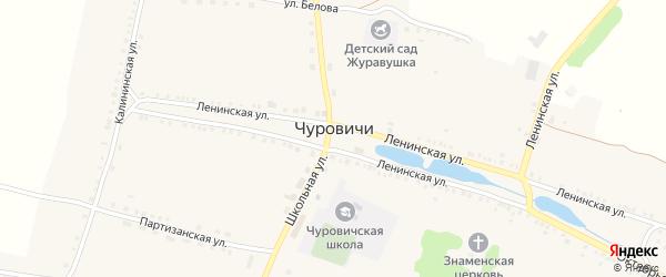 Октябрьская улица на карте села Чуровичи с номерами домов