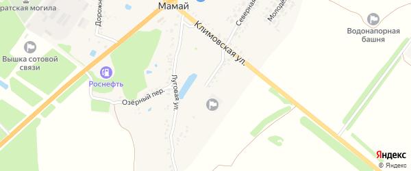 Луговая улица на карте поселка Мамая с номерами домов