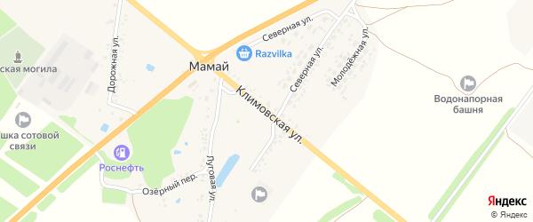 Климовская улица на карте поселка Мамая с номерами домов
