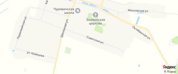 Карта села Чуровичи в Брянской области с улицами и номерами домов