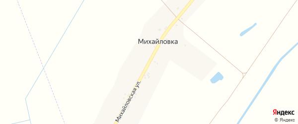 Михайловская улица на карте деревни Михайловки с номерами домов