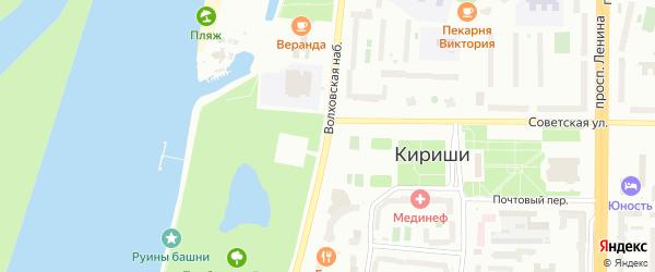 Волховская набережная на карте Киришей с номерами домов