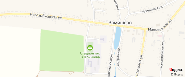Садовая улица на карте села Замишево с номерами домов