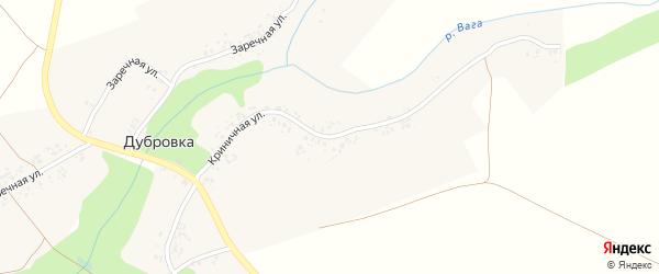 Криничная улица на карте деревни Дубровки с номерами домов