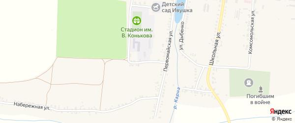 Первомайский переулок на карте села Замишево с номерами домов