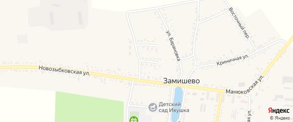 Улица 30-летия Победы на карте села Замишево с номерами домов