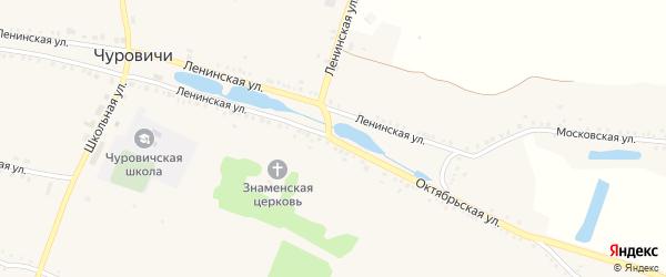 Ленинская улица на карте села Чуровичи с номерами домов