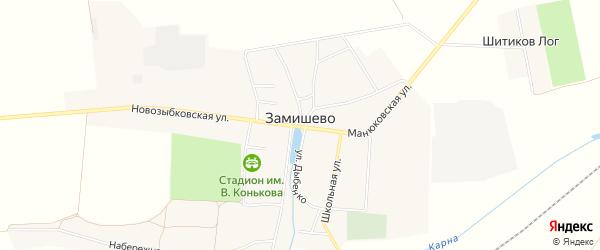 Карта села Замишево в Брянской области с улицами и номерами домов