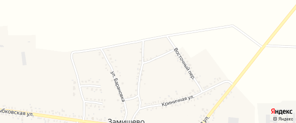 Криничный переулок на карте села Замишево с номерами домов
