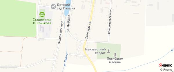 Школьная улица на карте села Замишево с номерами домов