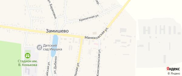 Манюковская улица на карте села Замишево с номерами домов