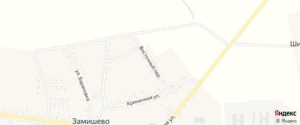 Восточный переулок на карте села Замишево с номерами домов