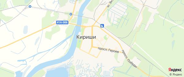 Карта Киришей с районами, улицами и номерами домов