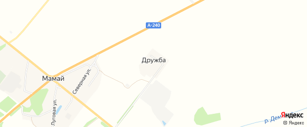 Карта поселка Дружбы в Брянской области с улицами и номерами домов