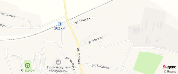 Улица Москва на карте деревни Тростани с номерами домов