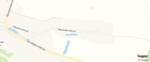 Московская улица на карте села Чуровичи с номерами домов