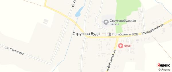 Улица Липовка на карте села Струговой Буды с номерами домов