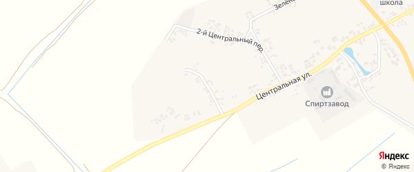 1-й Центральный переулок на карте села Творишино с номерами домов
