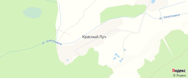 Карта поселка Красного Луча в Брянской области с улицами и номерами домов