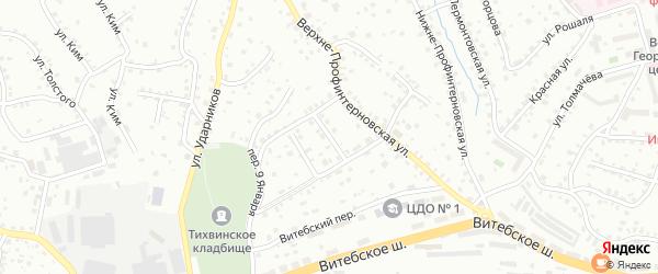 Средне-Профинтерновский 1-й переулок на карте Смоленска с номерами домов