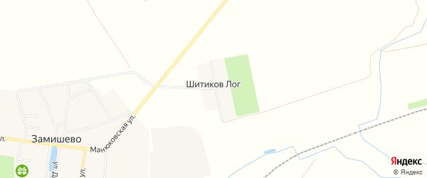 Карта поселка Шитикова Лога в Брянской области с улицами и номерами домов
