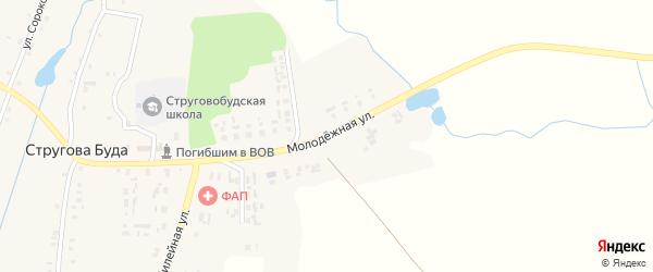 Молодежная улица на карте села Струговой Буды с номерами домов