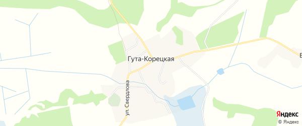 Карта села Гуты-Корецкой в Брянской области с улицами и номерами домов