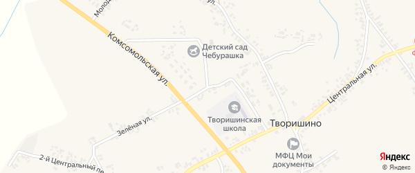 Школьная улица на карте села Творишино с номерами домов