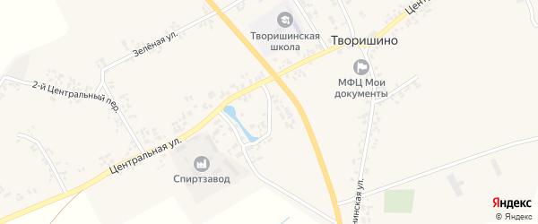 Школьный переулок на карте села Творишино с номерами домов