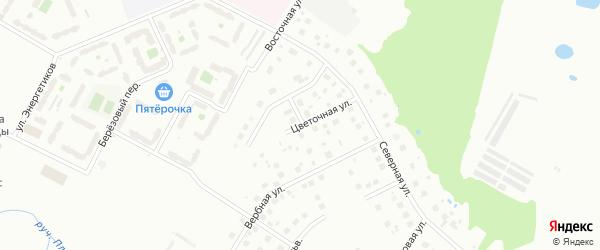 Цветочная улица на карте Киришей с номерами домов