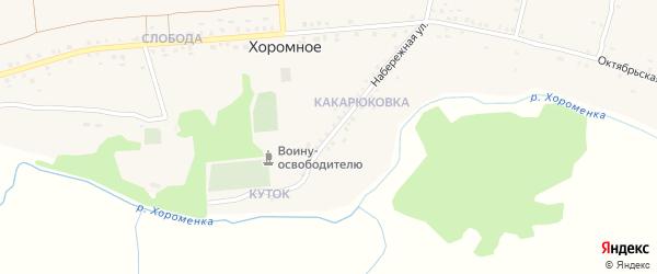 Набережная улица на карте Хоромного села с номерами домов