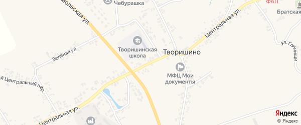 Центральная улица на карте села Творишино с номерами домов