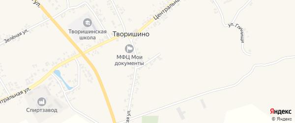 1-й Калининский переулок на карте села Творишино с номерами домов
