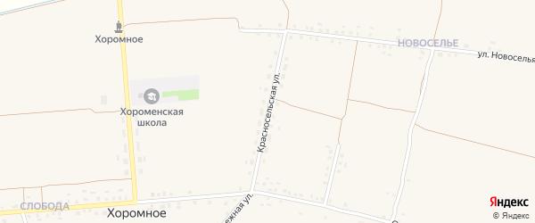 Красносельская улица на карте Хоромного села с номерами домов