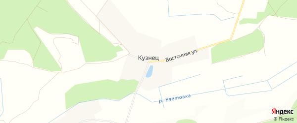 Карта деревни Кузнеца в Брянской области с улицами и номерами домов