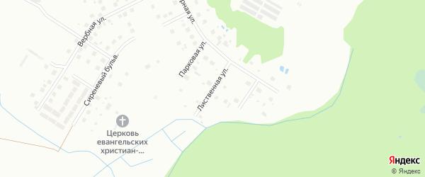 Лиственная улица на карте Киришей с номерами домов