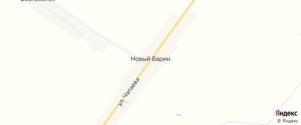 Карта поселка Ново-Варина в Брянской области с улицами и номерами домов
