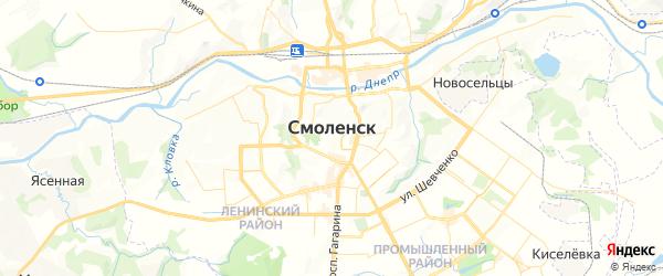 Карта Смоленска с районами, улицами и номерами домов