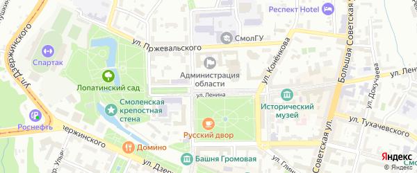 Улица Бояринова на карте Смоленска с номерами домов