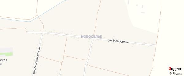 Новоселья улица на карте Хоромного села с номерами домов
