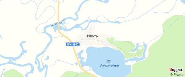 Карта поселка Ипути в Брянской области с улицами и номерами домов